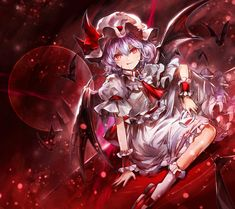 Touhou Anime, Demon Wolf, Image Boards, Scarlet, Kawaii Anime, Devil, Cool Girl, Fan Art, Manga