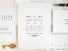 Seaborn press. Unique Wedding Invitation - Letterpress Printed - Elegant Typography - Carousel (Sample). $8.00, via Etsy.