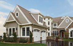 """Fiber cement cladding is available in many styles including lap siding, """"cedar"""" shakes, flat panel and trim. 