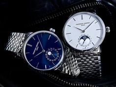 Frederique Constant Manufacture Slimline Moonphase in metal bracelet