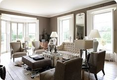 ditto :: a beautiful living room; perfect for good conversation - Fieldstone Hill Design