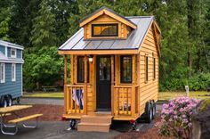 This is the 178 sq. ft. Atticus Tiny House at Mt. Hood Tiny House Village near Portland, Oregon. It's the Linden 20 model designed and built by Tumbleweed Houses. Now, you can vacation in it …