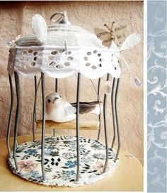Bird cage cage oiseau on pinterest birds deco and - Petite cage oiseau deco ...