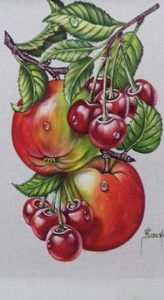 Painting fabric machine embroidery 46 Ideas for 2019 Fruit Painting, Painting For Kids, Fabric Painting, Fruit Illustration, Botanical Illustration, Fruit Photography, Art Drawings For Kids, Beautiful Fruits, Fruit Art