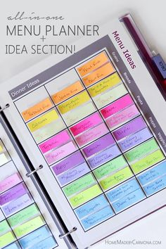 Brilliant Menu Planner! Never be stumped about what to make for meals again!