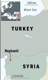 Turkey blames Syria for deadly border town car bombs