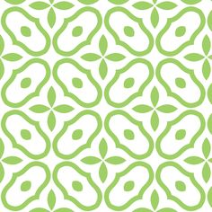 Mosaic - White and Leaf Green © 2010 fabric by inscribed_here on Spoonflower - custom fabric