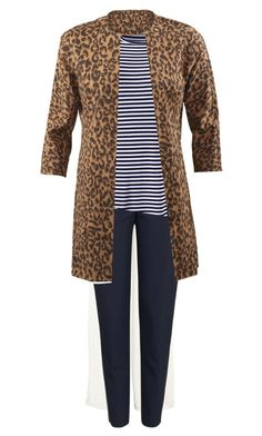 """""""Estate Jacket with Navy Stripes"""" by mary-malcolm-hashbarger on Polyvore featuring Topshop and CAbi"""