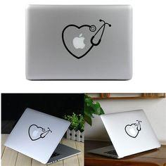 A, Creativity Vinyl Decal Sticker Adhesive Skin for Macbook Laptop Pro Air 11 13
