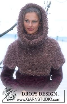 shoulder warmer with hood - free pattern. great under coats!