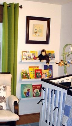 $10 Ledge Plans make great Nursery Book Shelves