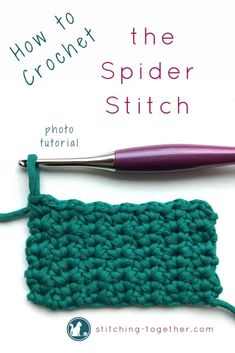 Are you ready to learn a new stitch? Visit now to learn how to crochet the spider stitch with this easy step by step photo tutorial! You'll love using the spider stitch in your next crochet project!