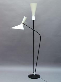 standing lamp  by Professor D. Moor for  BAG-Bronzewarenfabrik  Switzerland 1952-53