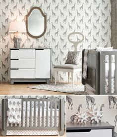 I like the sophisticated, adult-like look of this nursery.  Due to the lack of colour, it looks like a quite, restful place for a baby to sleep.
