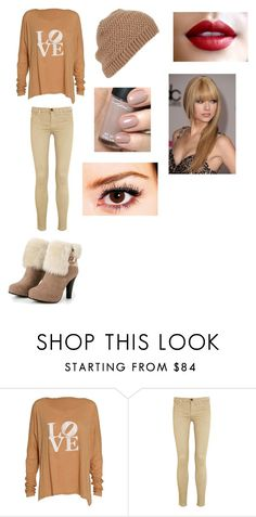 """Tenue N°40"" by directioner-forever5163 ❤ liked on Polyvore featuring Current/Elliott and Topshop"
