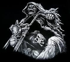 skeleton riding motorcycle tattoo - Google Search