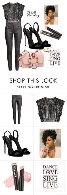 """""""Untitled #67"""" by clarion477 ❤ liked on Polyvore featuring H&M, Giuseppe Zanotti, L.A. Girl and Prima Design"""