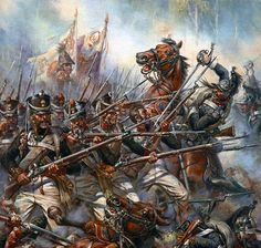 """French dragoons attacked Russian infantry"", A.F. Telenik"