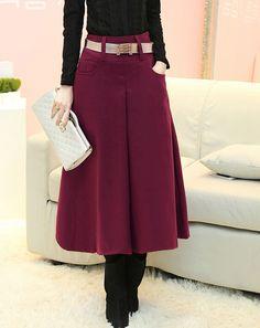 1 470,48 руб Бесплатная доставка высокое качество мода теплая корейской осень зима новое поступление платье линии утолщаются шерстяные длинная юбка купить на AliExpress
