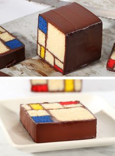 Mmmm.... I'm getting hungry!        Edible Art: Mondrian cake