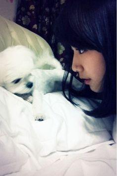 shin hye with her pet  ♡♡♡ 박신혜 / Park Shin-Hye