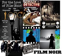 """""""film noir"""" by akaclem ❤ liked on Polyvore"""