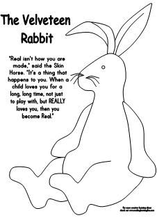 Velveteen Rabbit Coloring Page Activity From Making Learning Fun Find It And More At Www Making Door Decorations Classroom Kindergarten Books Velveteen Rabbit