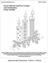 See Thru N Stitch Xmas Candles