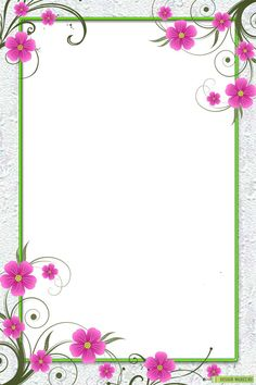 Border with pink flowers Frame Border Design, Boarder Designs, Page Borders Design, Flower Backgrounds, Flower Wallpaper, Flower Background Design, Picture Borders, Boarders And Frames, Powerpoint Background Design