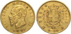 """NumisBids: Numismatica Varesi s.a.s. Auction 65, Lot 641 : SAVOIA - VITTORIO EMANUELE II (1861-1878) 20 Lire 1861 Torino """"T su..."""