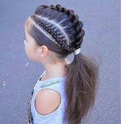 Cute and simple do If you liked this pin, click now for more details. Cute Hairstyles For Kids, Baby Girl Hairstyles, Cool Hairstyles, Teenage Hairstyles, Fishtail Hairstyles, Fresh Hair, Toddler Hair, Hair Dos, Hair Hacks