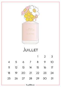 La Paillette - Blog Rennes Illustrations Mode Lifestyle: Calendrier de Juillet et fond d'écran organisé - Daisy de Marc Jacobs