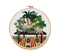 potted jungle and rug - sarah k benning