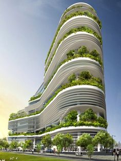 #Architecture: Fusionopolis a future green development in Singapore