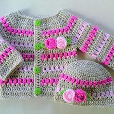 Crochet Baby Sweaters, Crochet Baby Cardigan, Crochet Baby Clothes, Crochet Baby Hats, Crochet Beanie, Booties Crochet, Toddler Cardigan, Cardigan Bebe, Sweater Cardigan