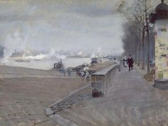 Giuseppe De Nittis  The Seine at Paris