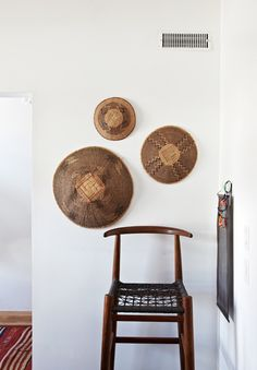 i would really like to decorate with baskets on the wall. too bad michael hates the idea...