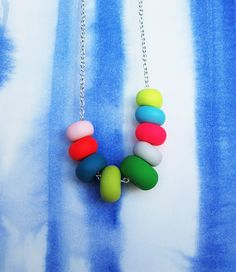 lagoon handmade bead necklace by MadeByEmilyGreen on Etsy, $45.00