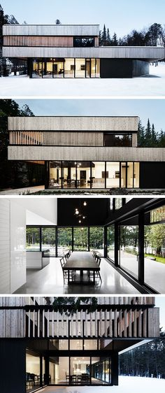 Haus am See von ACDF Architecture in Magog, Kanada – Lake House by ACDF Architecture in Magog, Canada – Architecture Résidentielle, Contemporary Architecture, Chinese Architecture, Architecture Student, Contemporary Interior, Facade Design, Exterior Design, Modern Foyer, Style At Home