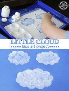 This Little Cloud Art is perfect for little hands. Inspired by Little Cloud by Eric Carle This Little Cloud Art is perfect for little hands. Inspired by Little Cloud by Eric Carle Preschool Weather, Weather Activities, Spring Activities, Preschool Crafts, Preschool Activities, Book Activities, Rainbow Activities, Preschool Learning, Science Classroom