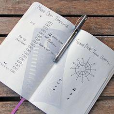 "Time Spiral Stencil - Bullet Journal Stencil, fits Traveler's Notebook, Leuchtturm and Moleskine 4"" by 7"""