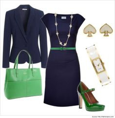 Casual-Wear-for-Women-Green-Navy-Formal-Cum-Casual