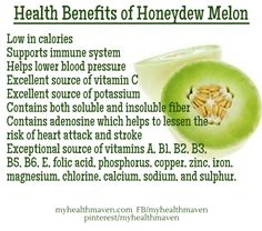 Health Benefits of Honeydew Melon - Health Plus - Diet Plans, Weight Loss Tips, Nutrition and Fruit Benefits, Juicing Benefits, Melon Health Benefits, Healthy Tips, Healthy Eating, Healthy Recipes, Healthy Food, Health Diet, Bible