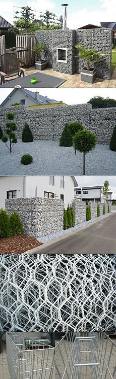 My home my fortress Backyard Projects, Outdoor Projects, Garden Projects, Fence Design, Garden Design, House Design, Gabion Retaining Wall, Walled Garden, Outdoor Living
