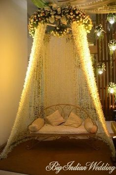 Photos of Namrata Kohli, Delhi NCR. the bridal venue decorated with strings of woven flowers