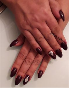dark red gel nails