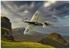 Supermarine Spitfire Poster featuring the digital art Spitfire by Peter Van Stigt
