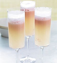 strawberry sorbet & prosecco floats