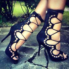Corsette Lace-Up Heels <3