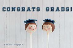 Graduates Cake Pops by Isabella Schenz